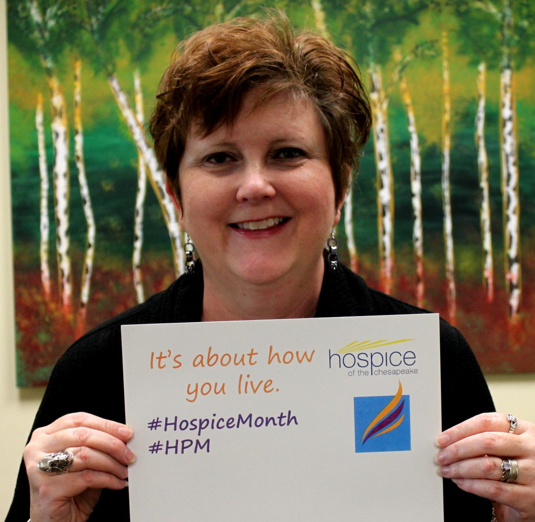 Roberta Rook, licensed clinical professional counselor and bereavement coordinator with Chesapeake Life Center during national hospice and palliative care month