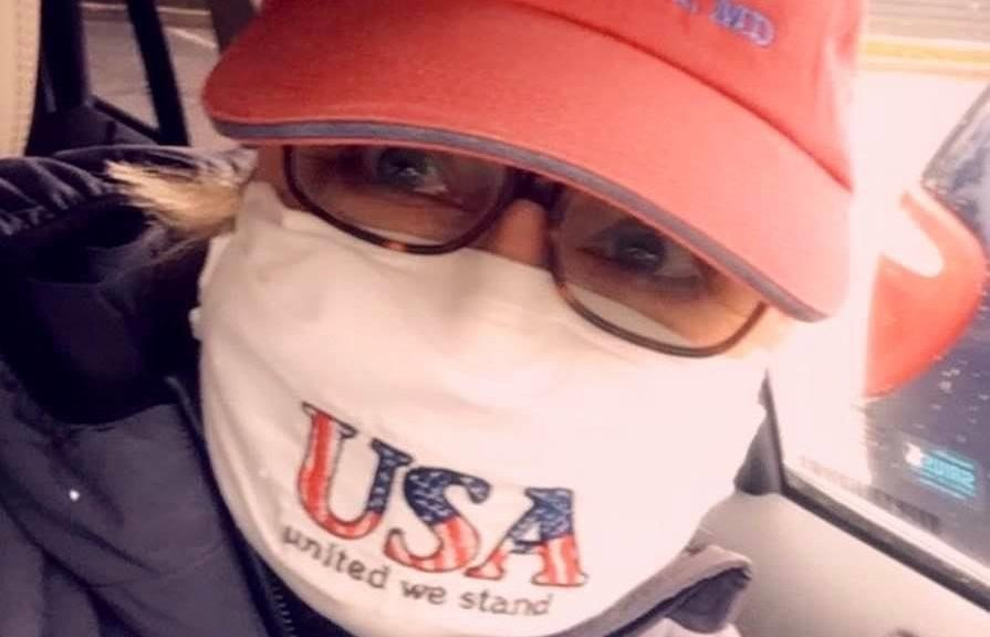 Founder of Face Masks for Maryland Lucy Kruse wears one of her favorite face masks.