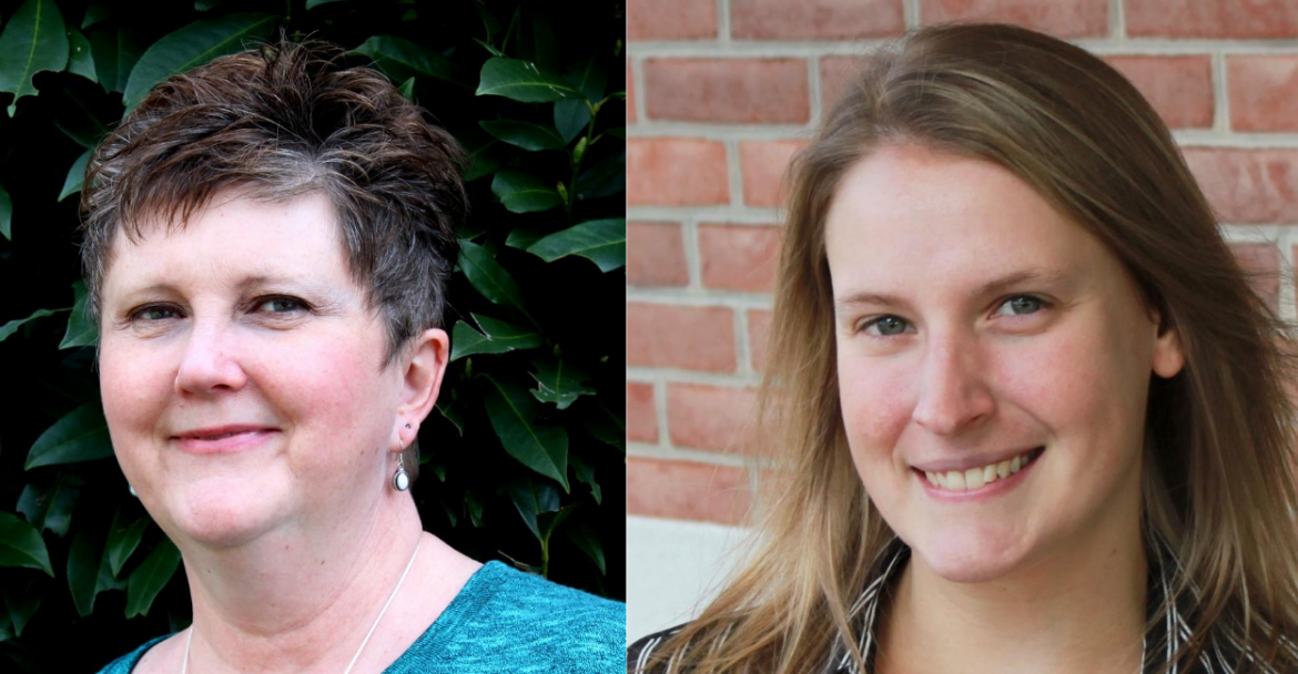 Headshots of Roberta Rook, LCPC, and Casey Dressel, LCSW-C, Chesapeake Life Center Bereavement Counselors