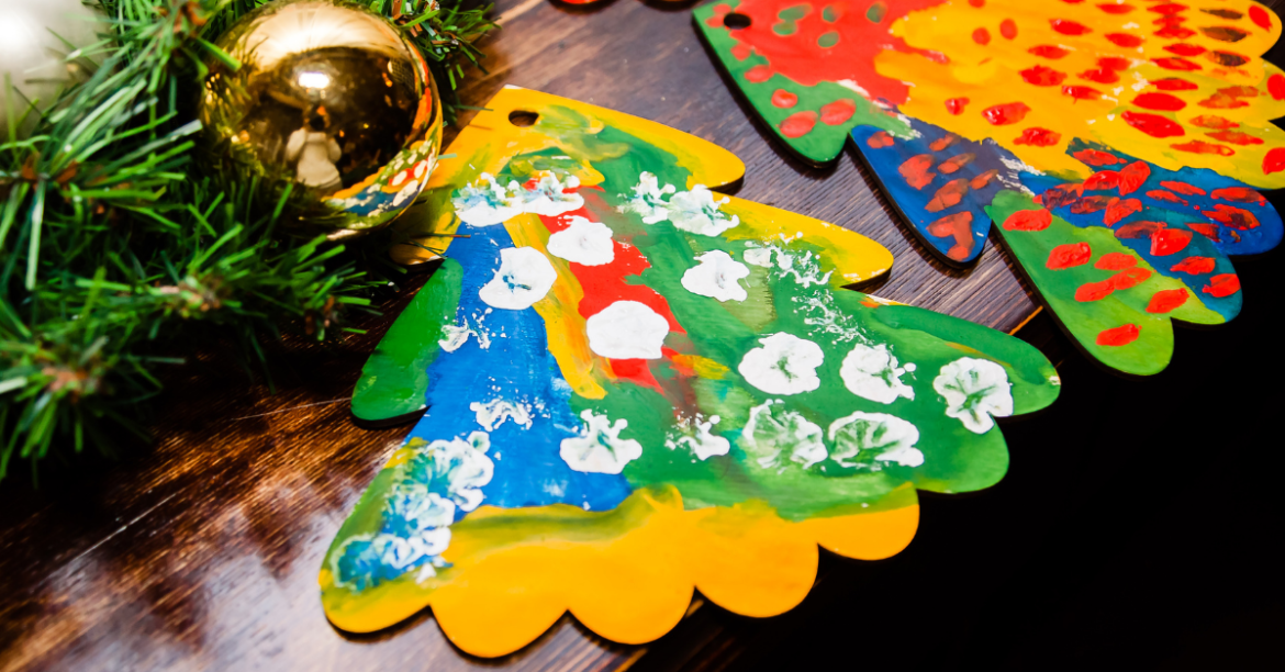 Holiday crafts can be helpful to bring back a sense of fun and tradition to grieving children